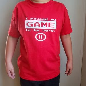 "Unisex ""I paused my game to be here"" T-shirt"